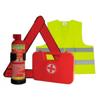 Fire extinguishing set