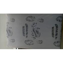 Χάρτινα πατάκια μιας χρήσης ενισχυμένο χαρτί με πλαστικό. (5kg)